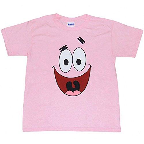 (Animation Shops Spongebob Patrick Star Face Toddler T-Shirt-3T Light Pink)