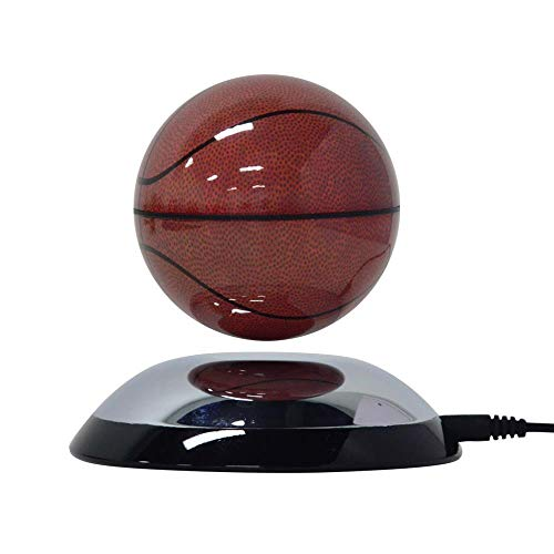 Lightahead Rotating Magnetic Floating Levitation Basketball Suspended in Air Great Gift for Home Office Desk Decoration (Globe Basketball)