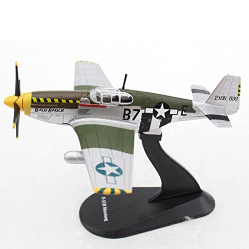 P-51b Mustang Fighter - Panzerkampf 1:72 Scale Die cast Metal Model P-51B Mustang Fighter Model(14606)