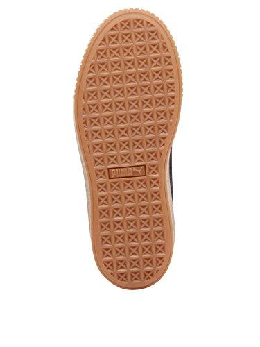 Sneakers Puma Da Donna Nero / Gum In Velluto Con Plateau