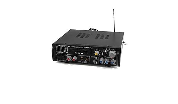 Amazon.com: eDealMax Negro estéreo de alta fidelidad de Audio amplificador de potencia Karaoke reproductor de mp3 Para el coche automático: Car Electronics