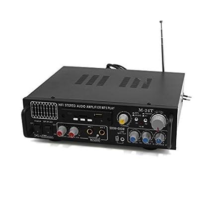 eDealMax Negro estéreo de alta fidelidad de Audio amplificador de potencia Karaoke reproductor de mp3 Para