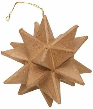 12 4-inch White Moravian Paper Star Christmas Ornaments Handmade