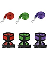 Chicken Harness with Leash Adjustable Training Vest Hen Walking Breathable Lead 3PCS S