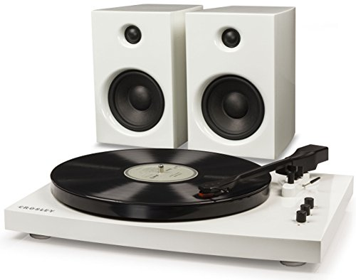 Crosley T100A-WH 2-Speed Bluetooth Turntable System with Ste
