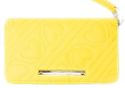Betsey Johnson Quilted Z/a Wallet/Wristlet with Hearts and Silver - Quilted Wallet Heart