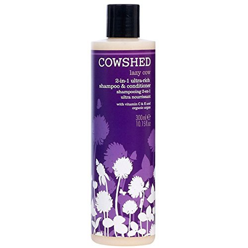 Cowshed Lazy Cow 2 In 1 Ultra Rich Nourishing Hair Shampoo & Conditioner 300ml by Cowshed