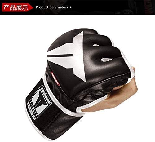 手袋 日常 実用 プログレードボクシンググローブ、エッセンシャルボクシングキックボクシングトレーニンググローブ (Size : L)
