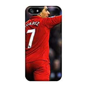 Anti-scratch And Shatterproof The Football Player Of Liverpool Luis Suarez Phone Case For Iphone 5/5s/ High Quality Tpu Case