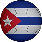 Cuba Flag Soccer Ball Home Decal Vinyl Sticker 12'' X 12''