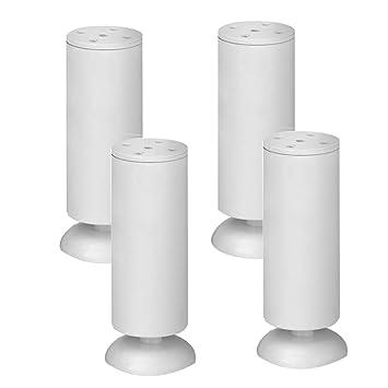 ACZZ Patas redondas de metal para muebles (blancas) de 4 piezas ...