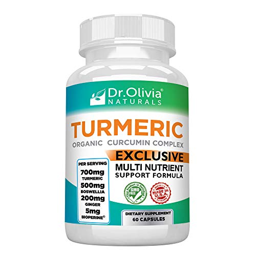 Organic Turmeric (Curcumin) Inflammation Supplement - Formulated With  Therapeutic Levels of