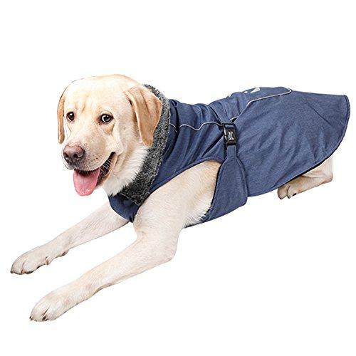 NACOCO Dog Winter Coat Waterproof Fleece Lined Jacket Cold Weather Coats Pet Sports Vest (Cold Weather Costumes)