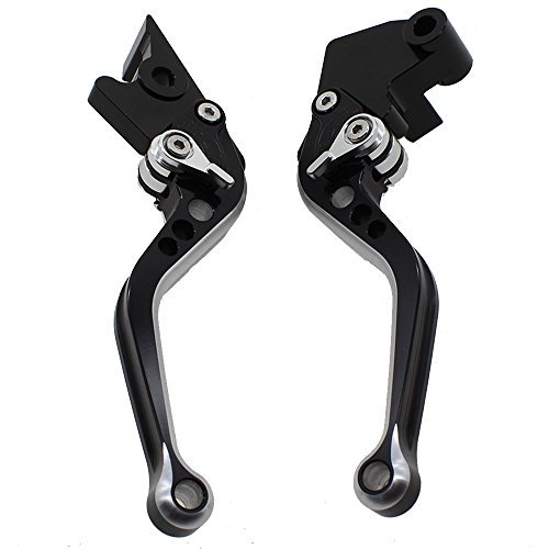 FXCNC Racing Short Billet Adjustable Motorcycle Double Colors Brake Clutch Lever set Pair fit for Honda CB1000R 2008-2016 CBR1000RR/FIREBLADE 2004-2007 by FXCNC Racing (Image #2)