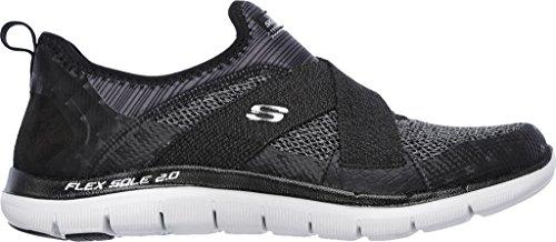 Skechers Sport Frauen Flex Appeal 2.0 New Image Fashion Sneaker Schwarzgrau