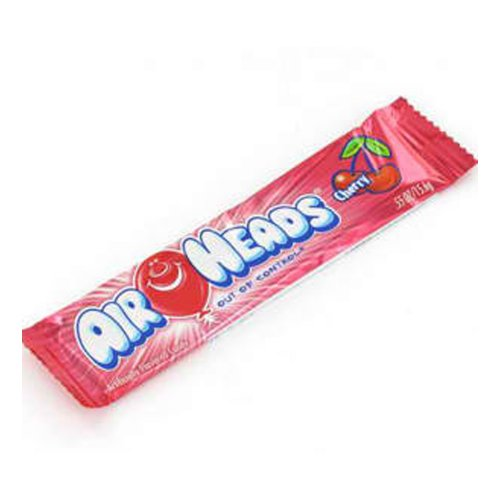 Airheads Candy, Individually Wrapped Bars, Cherry, Non Melting,
