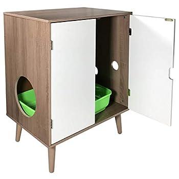 Image of Penn-Plax Cat Walk Furniture: Contemporary Home Cat Litter Hide-Away Cabinet Pet Supplies