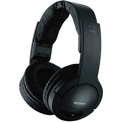Amazon Sony Over The Ear Analog RF Wireless Headphones Black
