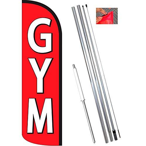 - Vista Flags Gym Windless Feather Banner Flag Kit (Flag, Pole, Ground Mt)