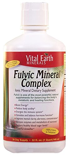 Vital Earth Minerals Fulvic Mineral Complex, 32 Fluid Ounce
