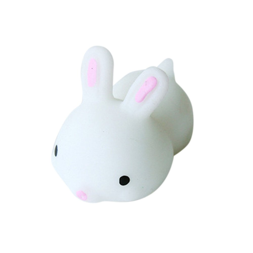 2019HoHo Stress Relief Toys Cute White Rabbit Squeeze Toys Fidget Toys Slow Rising Vent Toys for Adults Kids