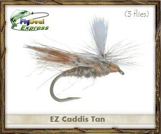 Fly Fishing Flies – EZ Caddis Tan – Dry Fly ( 3 - Pack ) 16  B00CEOE59W