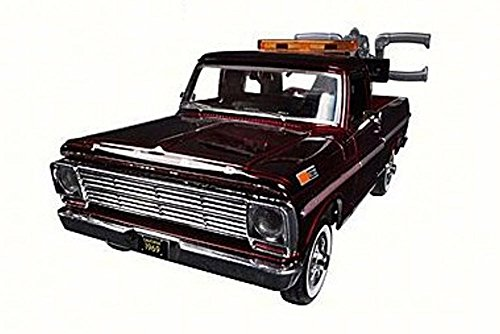 1969 Ford F-100 Pickup Tow Truck, Burgundy - Motor Max 75345AC - 1/24 Scale Diecast Model Toy Car (Tow Truck Diecast)