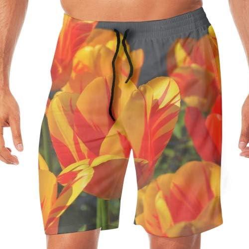 メンズ サーフパンツ 水陸両用 海水パンツ 夏 速乾 ショートパンツ ビーチ ショーツ カラフルな模様水着 おしゃれ 撥水