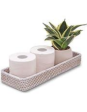 CELEZAR Vanity Tray Rattan Guest Towel Napkin