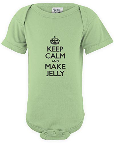 shirtloco Baby Keep Calm and Make Jelly Infant Bodysuit, Key Lime 24 ()