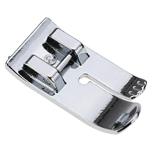 """STORMSHOPPING 1/4"""" Straight Stitch Snap-On Foot Center Needle Position Presser Foot for Brother Singer Juki Janome Babylock Kenmore and More Low Shank Sewing Machines"""
