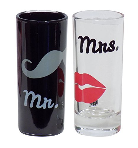 Shooter Glass Set (Mr. and Mrs. 2.5 ounce Shooter Shot Glass Set)