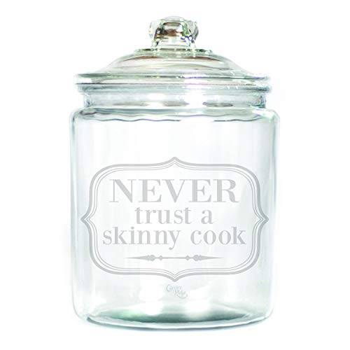 5fe4b8dc887c Amazon.com: Engraved Glass 1 Gallon Canister - Never Trust a Skinny ...