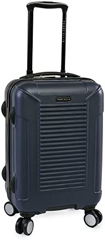 Perry Ellis Nova Hardside Spinner Carry On Luggage, Navy, One Size