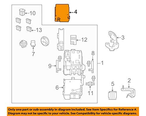 Genuine Honda 38256-T2F-A02 Relay Box (Upper) Cover: