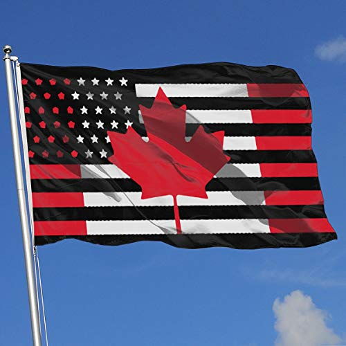 - YTGQ4PT USA Canada Flag Super Polyester Flag 3x5 Ft Banner with Grommets
