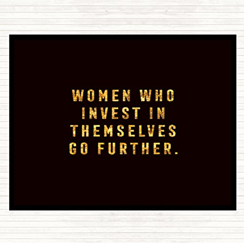 Placemat Invest Dinner Quote Women Who Table wZYUqv