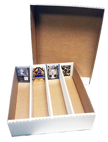 (10) Monster 4-Row Storage Box Holds 3,200 trading cards by MAX PRO 3200ct HALF LID - For Baseball, Football, Hockey, Soccer Cards by Max Protection