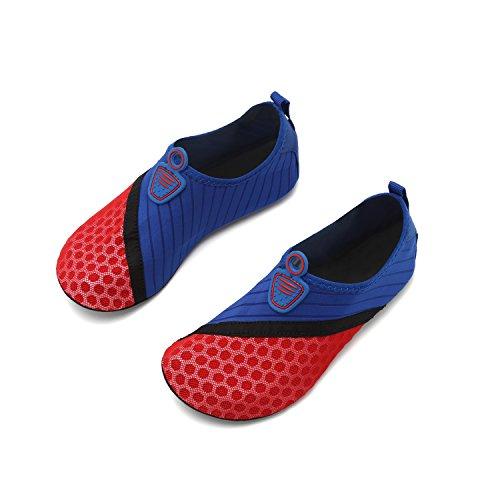 Socks Barefoot Shoes Swim Water for Quick OUYAJI Summer Blue Kid Aqua Beach Dry Red Men's Yoga Shoes Women's nxIzHwq