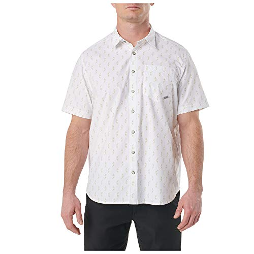 5.11 Tactical Men' Have a Knife Day Short-Sleeve Shirt, White, 2-x-Large