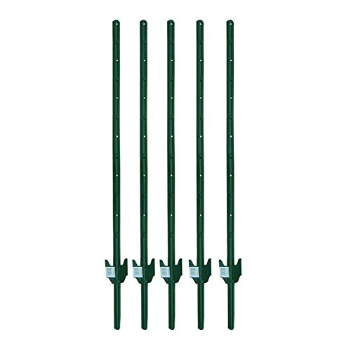 MTB Fence Post Sturdy Duty Fence U Post 4', Pack of 5 ()