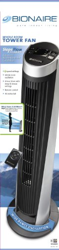 """Bionaire BTF4011ARBU Slopeflow 40"""" Tower Fan with Remote"""