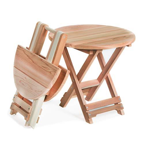 CEDAR Folding Adirondack Table (Adirondack Cedar Side Table)