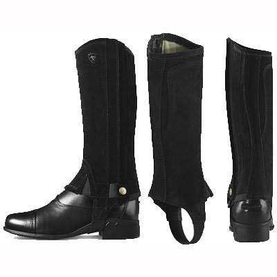 Ariat Kids All Around Chap III L Tall Black Suede