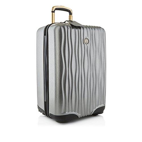 Joy Mangano Hardside Medium Carry-On Luggage, Platinum (Antler Liquis Luggage Best Price)