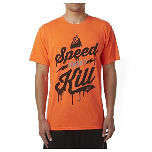 Fox Head Men's Speed Wobble Tech Tee, Fluorescent Orange, Medium