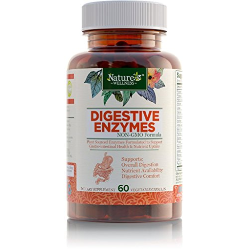 Digestive Enzymes Complete - Advanced Multi Enzyme Supplement for Better Digestion & Absorption. Help Gas Relief, Discomfort, Bloating, IBS, Gluten & Lactose Intolerance. Natural Prebiotic & Probiotic