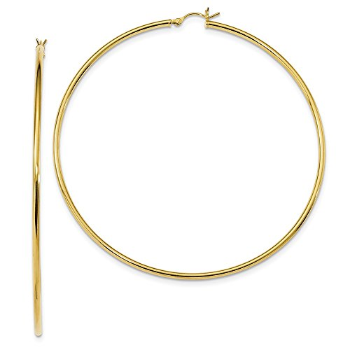 Designs by Nathan 14k Gold Plated 925 Silver Classic Round Tube Earrings about 3 1/8