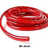 4mm id vacuum hose - ID=3mm/4mm/6mm/8mm Silicone Silicon Vacuum Hose Turbo Dump Radiator Rubber Air Vac Pipe 1M (MM4-R)