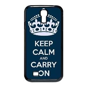 Mantenga la calma para continuar 005 Samsung Galaxy S4 9500 funda la cubierta del caso Negro caja del teléfono celular Funda Cubierta EOKXLLNBC05517
